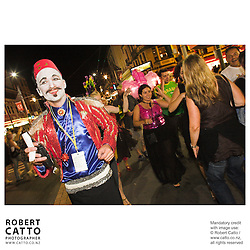 Chris Morley-Hall at the Go Wellington Cuba St Carnival Night Parade at Courtenay Place, Wellington, New Zealand.