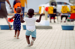 South Africa - Cape Town - 7 May 2020. NGO Gift of the Givers  handed out 1250 parcels at Nomzamo Primary School, in Strand. Gift of the Givers offices received a very concerning call from a worried principal who was very emotional as to what she experienced when she decided to see how her learners are coping during the lockdown period. Gift of the Givers presented each learner's family with a food parcel as well as donating bulk food to the school to cook for them daily. Photographer Ayanda Ndamane African News Agency(ANA)