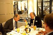 PEPE FANJUL WITH VICTORIA MATHER'S HUSBAND, , Graydon Carter hosts a dinner to celebrate the reopening og the American Bar at the Savoy.  Savoy Hotel, Strand. London. 28 October 2010. -DO NOT ARCHIVE-© Copyright Photograph by Dafydd Jones. 248 Clapham Rd. London SW9 0PZ. Tel 0207 820 0771. www.dafjones.com.