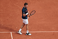 Stan Wawrinka (SUI) reacted as winner during the Roland Garros 2020, Grand Slam tennis tournament, on September 30, 2020 at Roland Garros stadium in Paris, France - Photo Stephane Allaman / ProSportsImages / DPPI