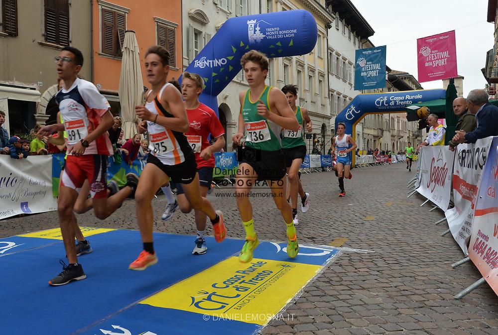 Trento Running Festival - October the 6th, 2018 -  Trento, Italy.<br /> Giro al Sas Kids - Gare bambini<br /> © DANIELEMOSNA.IT