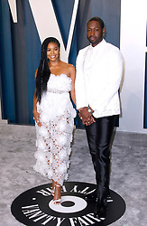 February 9, 2020, Beverly Hills, CA, USA: BEVERLY HILLS, CALIFORNIA - FEBRUARY 9: Gabrielle Union, Dwyane Wade attends the 2020 Vanity Fair Oscar Party at Wallis Annenberg Center for the Performing Arts on February 9, 2020 in Beverly Hills, California. Photo: CraSH/imageSPACE (Credit Image: © Imagespace via ZUMA Wire)