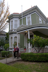 California: Napa City, exterior  during B&B Holiday Tour at McClelland Priest house.  Photo copyright Lee Foster.  Photo # canapa106900