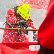 Leg 9, from Newport to Cardiff, day 06 on board MAPFRE, speed record day. Xabi Fernandez. 25 May, 2018.