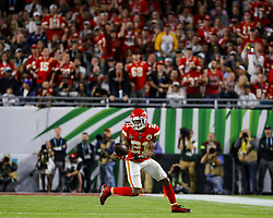 February 2, 2020, Miami Gardens, FL, USA: Kansas City Chiefs defensive back Bashaud Breeland (21) catches an interception against the San Francisco 49ers during the first half of Super Bowl LIV at Hard Rock Stadium in Miami Gardens, Fla., on Sunday, Feb. 2, 2020. (Credit Image: © TNS via ZUMA Wire)