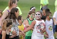 Middletown, New York - Children and counselors from the Middletown YMCA summer camp perform during a talent show for parents and other campers on August 17, 2010.