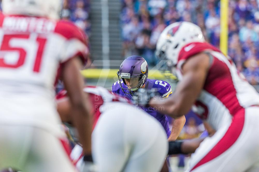 Minnesota Vikings vs. Arizona Cardinals on November 20, 2016 at U.S. Bank Stadium in Minneapolis, Minnesota.  Photo by Ben Krause/Minnesota Vikings