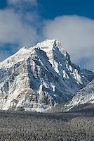 The Bow Range in Winter, Banff National Park Alberta Canada