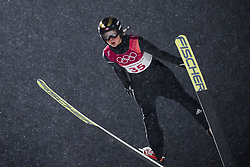 February 12, 2018 - Pyeongchang, SOUTH KOREA - 180212 Maren Lundby of Norway competes in Ski Jumping, Women's Normal Hill Individual Final, during day three of the 2018 Winter Olympics on February 12, 2018 in Pyeongchang..Photo: Joel Marklund / BILDBYRN / kod JM / 87619 (Credit Image: © Joel Marklund/Bildbyran via ZUMA Press)