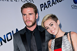 Liam Hemsworth and Miley Cyrus attend the premiere of 'Paranoia' at DGA Theater in Los Angeles, CA, USA, August 8, 2013. Photo by Lionel Hahn/ABACAPRESS.COM