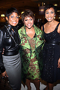 27 January 2011-New York , NY- l to r: Jocelyn Taylor, Linda John Rice, and Desiree Rogers  at ' For the Love of Color ' celebrating the vision of Eunice Johnson and the Ebony Fashion, Fair Cosemetics sponsored by Macy's and held at Macy's Herald Square on January 27, 2011 in New York City.  Photo Credit: Terrence Jennings
