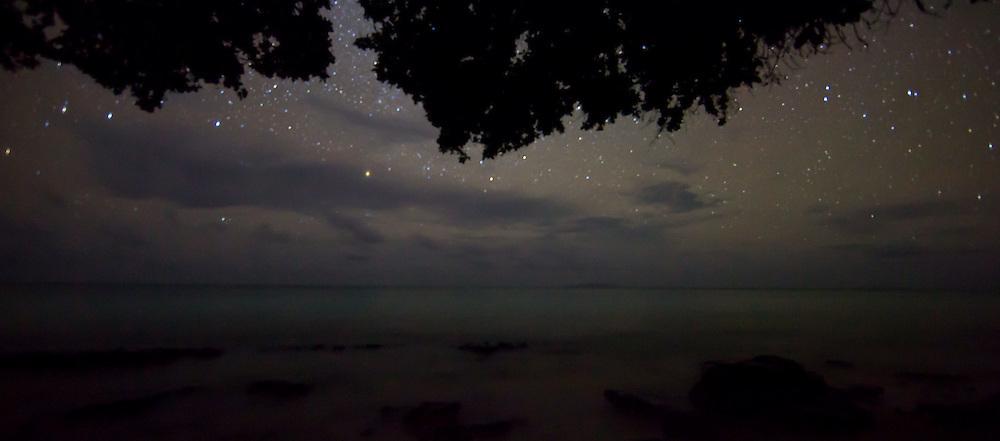 Starlit Horizon Over Quiet Waters, Fiji