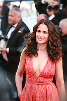 Actress Andie MacDowell at the gala screening for the film Inside Out at the 68th Cannes Film Festival, Monday May 18th 2015, Cannes, France