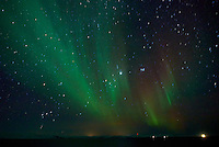 Northern Lights While Sailing North on the Hurtigruten MV Nordkapp. Image taken with a Nikon D800 and 24 mm f/1.4G lens (ISO 6400, 24 mm, f/2.8, 4 sec).
