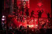Football - 2019 / 2020 Premier League - Liverpool are Premier League Champions<br /> <br /> Liverpool fans take to the streets to celebrate  Premier League title - and first English title for 30 years.<br /> <br /> COLORSPORT/TERRY DONNELLY