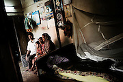 A Christian refugee family in their tent at YMCA relief comittee Christian refugees in Orissa's capital Bhubaneswar. .Nov. 04, 2008.