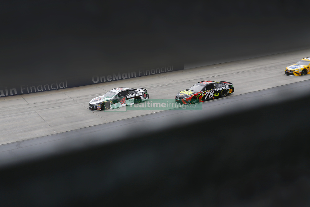 May 6, 2018 - Dover, Delaware, United States of America - Kevin Harvick (4) and Martin Truex, Jr (78) battle for position during the AAA 400 Drive for Autism at Dover International Speedway in Dover, Delaware. (Credit Image: © Chris Owens Asp Inc/ASP via ZUMA Wire)
