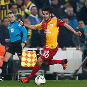 Galatasaray's Engin Baytar during their Turkish superleague soccer derby match Fenerbahce between Galatasaray at Sukru Saracaoglu stadium in Istanbul Turkey on Saturday 17 March 2012. Photo by TURKPIX