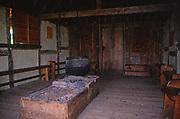 A08BN1 Reconstruction interior home Anglo Saxon village