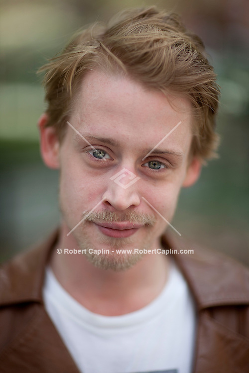 Actor Macaulay Culkin poses for a portrait in New York...Photo by Robert Caplin.