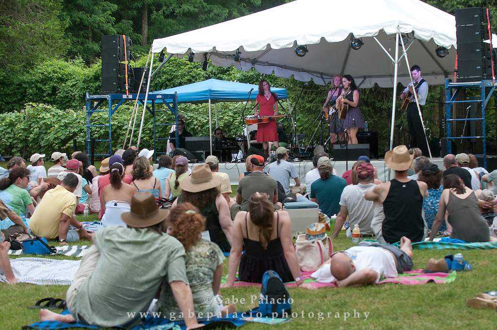 Red Molly  performing in the Friends Field set at the American Roots Music Festival at Caramoor in Katonah New York.photo by Gabe Palacio
