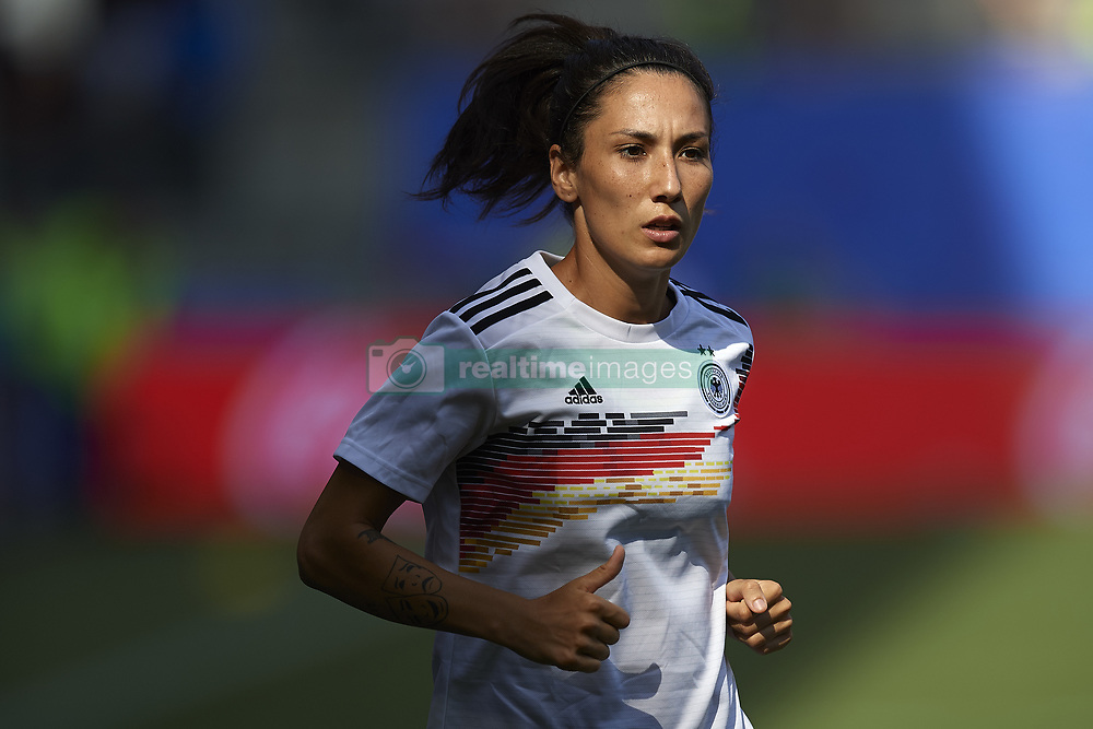 June 29, 2019 - Rennes, France - Sara Doorsoun (Vfl Wolfsburg) of Germany during the warm-up before the 2019 FIFA Women's World Cup France Quarter Final match between Germany and Sweden at Roazhon Park on June 29, 2019 in Rennes, France. (Credit Image: © Jose Breton/NurPhoto via ZUMA Press)