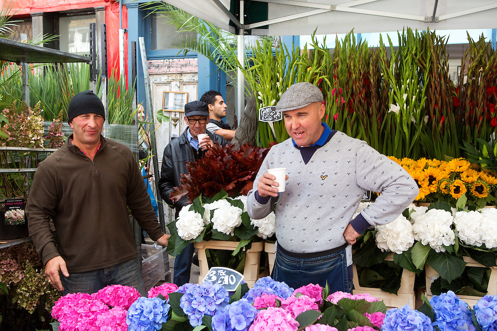 Columbia Road Flower Market in East London comes alive every Sunday