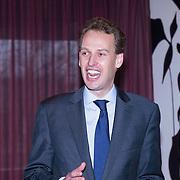 NLD/Amsterdam/20140220 - Boekpresentatie Fout Geld in De Nederlandse Bank, directeur De Nederlandse Bank Frank Elderson