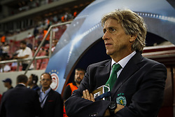 September 12, 2017 - Piraeus, Athens, Greece - Sporting's Portuguese coach Jorge Jesus during the UEFA Champions League Group D, match between Olympiacos and Sporting CP, at Georgios Karaiskakis Stadium in Piraeus, Greece on September 12, 2017. (Credit Image: © Dpi/NurPhoto via ZUMA Press)
