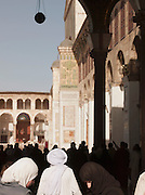 Worshippers in the Umayyad Mosque, the Great Mosque of Damascus, Damascus, Syria