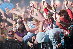 Fans of Norman Cook, performing as Fatboy Slim, on the main stage..Rockness, Friday 11th June..Pic ©2010 Michael Schofield. All Rights Reserved.