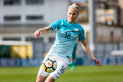 Kaja Erzen of Slovenia during football match between Slovenia and Germany in Womans Qualifications for World Championship 2019, on April 10, 2018 in Sports park Domzale, Domzale, Slovenia. Photo by Ziga Zupan / Sportida