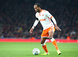 October 31, 2018 - London, England, United Kingdom - London, UK, 31 October, 2018.Blackpool's Nathan Delfouneso.During Carabao Cup fourth Round between Arsenal and Blackpool at Emirates stadium , London, England on 31 Oct 2018. (Credit Image: © Action Foto Sport/NurPhoto via ZUMA Press)