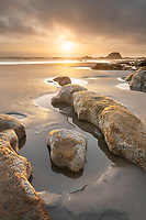 Sunset at Beach 3 on the Washington Coast, Olympic National Park