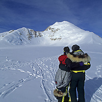 ANTARCTICA, Mount Vaughan Expedition. Norman & Carolyn Vaughan back in base camp after climbing Mt. Vaughan, named for Norman by Richard Byrd in 1929.