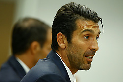 August 12, 2017 - Rome, Italy - Gianluigi Buffon during the Juventus press conference ahead of the Italian Supercup at Olimpico Stadium on August 12, 2017 in Rome, Italy. (Credit Image: © Matteo Ciambelli/NurPhoto via ZUMA Press)