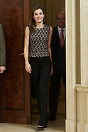 060817 Queen Letizia attends several audiences at Zarzuela Palace