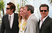 Actor Benicio Del Toro, Actress Emily Blunt, Director Denis Villeneuve and Actor Josh Brolin at the Sicario film photo call at the 68th Cannes Film Festival Tuesday May 19th 2015, Cannes, France.
