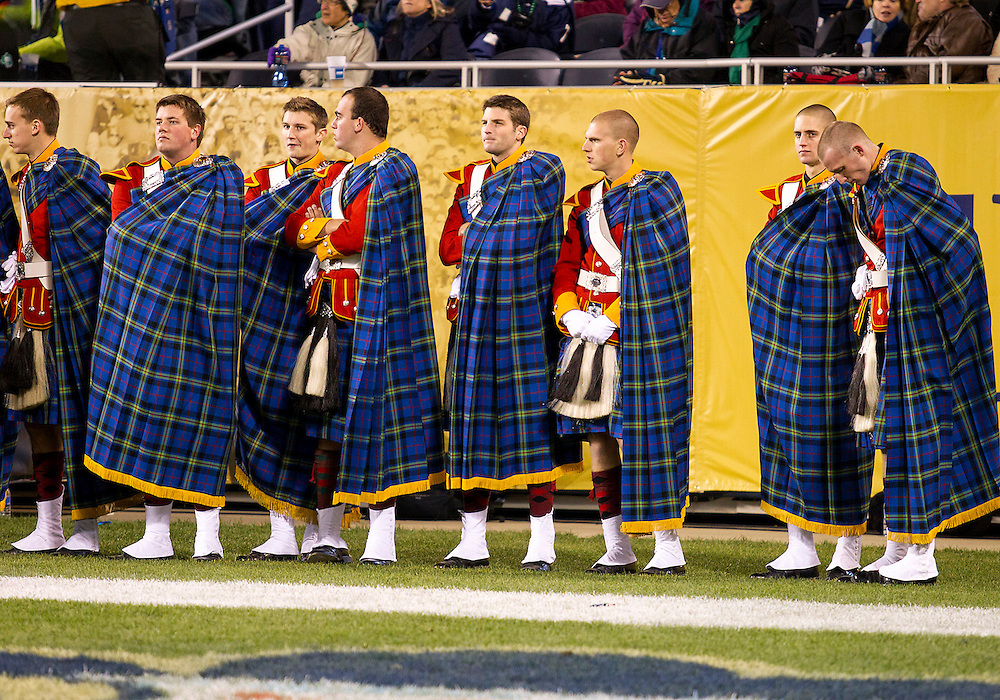 October 06, 2012:  Notre Dame Irish Guard during NCAA Football game action between the Notre Dame Fighting Irish and the Miami Hurricanes at Soldier Field in Chicago, Illinois.  Notre Dame defeated Miami 41-3.