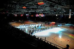 07.11.2014, Olympia Eisstadion, Muenchen, GER, IIHF, Deutschland Cup, Deutschland vs Schweiz, im Bild Deutschland Cup bei der Nationalhymne // during the German Cup Match between Germany and Switzerland at the Olympia Eisstadion in Muenchen, Germany on 2014/11/07. EXPA Pictures © 2014, PhotoCredit: EXPA/ Eibner-Pressefoto/ Laegler<br /> <br /> *****ATTENTION - OUT of GER*****