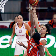 Galatasaray's Alba TORRENS (R) during their Euroleague woman Group A basketball match Galatasaray between UMMC Ekaterinburg at the Abdi Ipekci in Istanbul at Turkey on wednesday,October, 26, 2010. Photo by TURKPIX