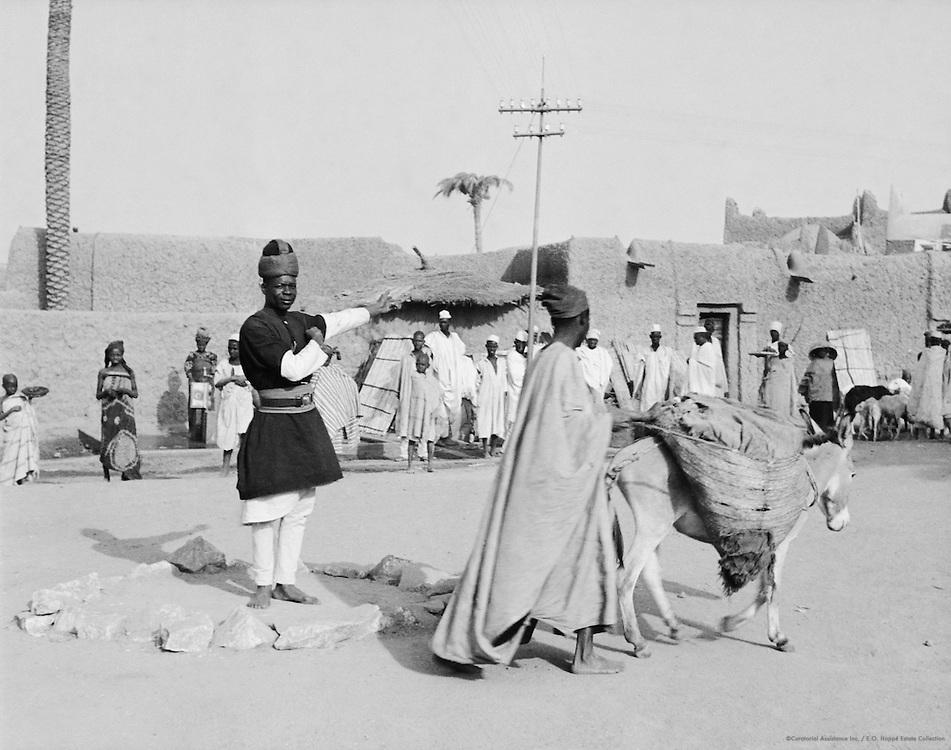 Policeman, Donkey, Kano, Nigeria, Africa, 1937
