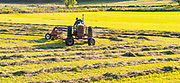 A farmer works his field near Marshal Aug. 6th. (Photo © Andy Manis)
