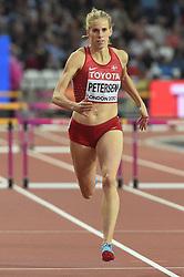 August 7, 2017 - London, England, United Kingdom - Sara Slott PETERSEN, Denmark,  during 400 meter  hurdle heats in London on August 7, 2017 at the 2017 IAAF World Championships athletics. (Credit Image: © Ulrik Pedersen/NurPhoto via ZUMA Press)
