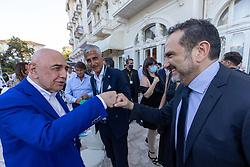 HELGA COSTA ADRIANO GALLIANI GIOVANNI CARNEVALI E MATTEO MARANI  <br /> INAUGURAZIONE CALCIOMERCATO 2021 GRAND HOTEL RIMINI