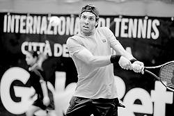 June 22, 2018 - L'Aquila, Italy - Gianluigi Quinzi Guilherme Clezar during match between Guilherme Clezar (BRA) and Gianluigi Quinzi (ITA) during day 7 at the Internazionali di Tennis Citt dell'Aquila (ATP Challenger L'Aquila) in L'Aquila, Italy, on June 22, 2018. (Credit Image: © Manuel Romano/NurPhoto via ZUMA Press)