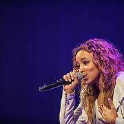 """WASHINGTON, DC - December 17th, 2014 - Tinashe performs at the Howard Theatre in Washington, D.C. Aquarius, her debut album, was released earlier this year and featured the Top 40 hit song """"2 On."""" (Photo By Kyle Gustafson / For The Washington Post)"""