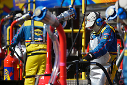 March 4, 2018 - Las Vegas, NV, U.S. - LAS VEGAS, NV - MARCH 04: Fuel cans are filled during the Monster Energy NASCAR Cup Series Pennzoil 400 Sunday, March 4, 2018, at the Las Vegas Motor Speedway in Las Vegas, NV. (Photo by Sam Morris/Icon Sportswire) (Credit Image: © Sam Morris/Icon SMI via ZUMA Press)