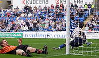 Photo: Daniel Hambury.<br />Reading v Ipswich Town. Coca Cola Championship.<br />16/10/2005.<br />Ipswich's Richard Naylor scores an own goal past keeper Lewis Price as Reading's Leroy Lita celebrates.