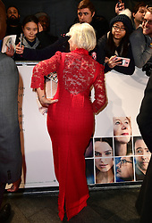 Dame Helen Mirren attending the European premiere of Collateral Beauty, held at the Vue Leicester Square, London. PRESS ASSOCIATION Photo. Picture date: Monday 15th December, 2016. See PA Story SHOWBIZ Beauty. Photo credit should read: Ian West/PA Wire